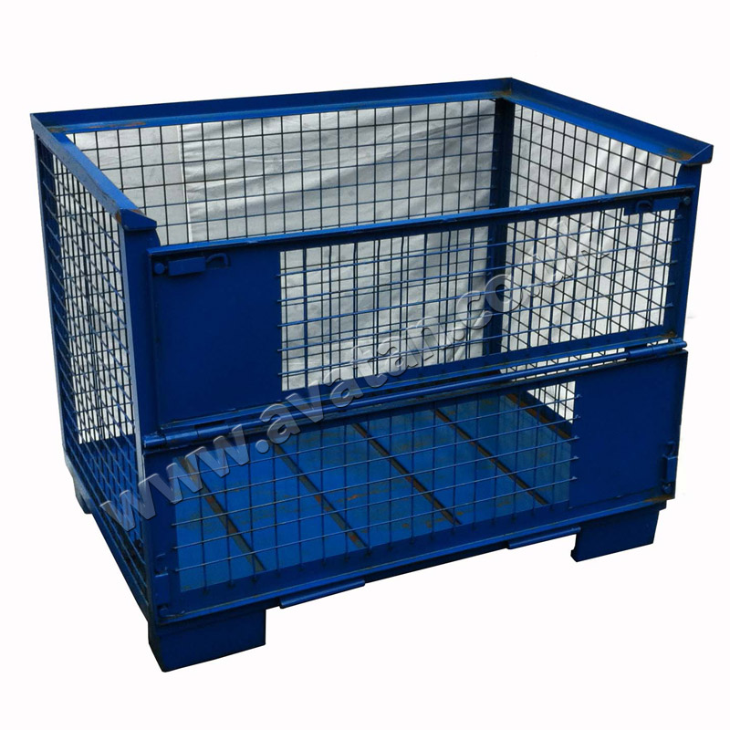 Gitterbox Stillage Rigid Cage Pallet Half Drop Gate