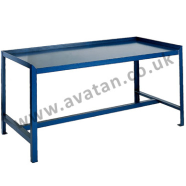 Workbench Steel Raised Edge Heavy Duty Table