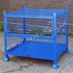 Secure Lockable Cage Pallet Mesh Sides Stackable