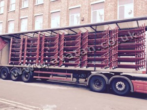 Postrack Bases Offset Stacked On Trailer