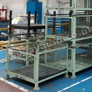 Used Cage Pallet Removable Mesh Gate Good Condition