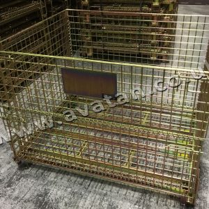 Heavy duty CubiCage 890mm High Half Gate Colour Gold