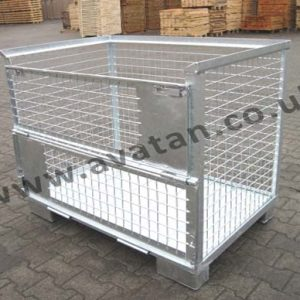 Euro Cage Pallet Half drop Gate Steel Base Galvanised