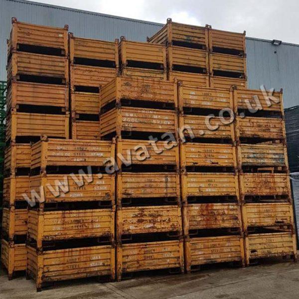 Heavy Duty Used Steel Box Pallet Foundry Bin